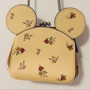 Coach Disney x Minnie Mouse Floral Crossbody Bag